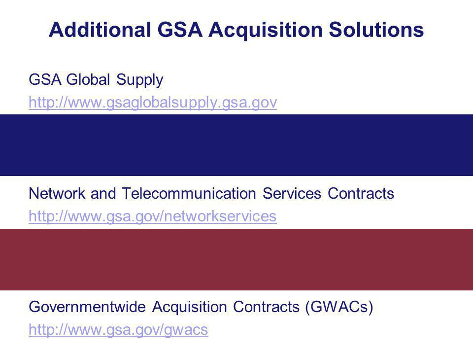 Additional GSA Acquisition Solutions