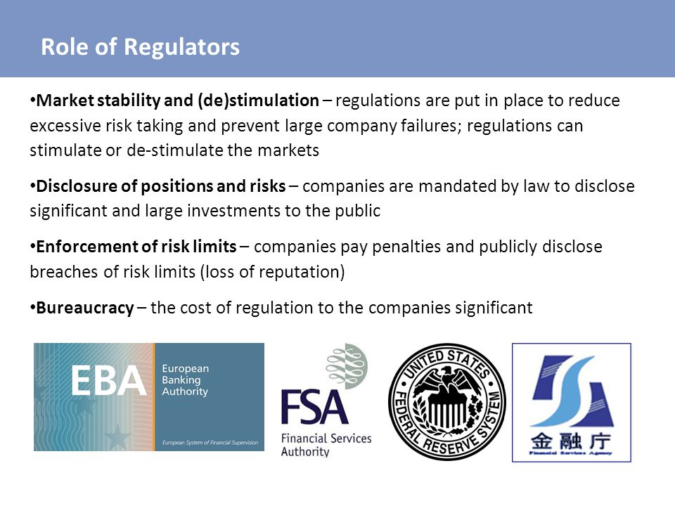Role of Regulators