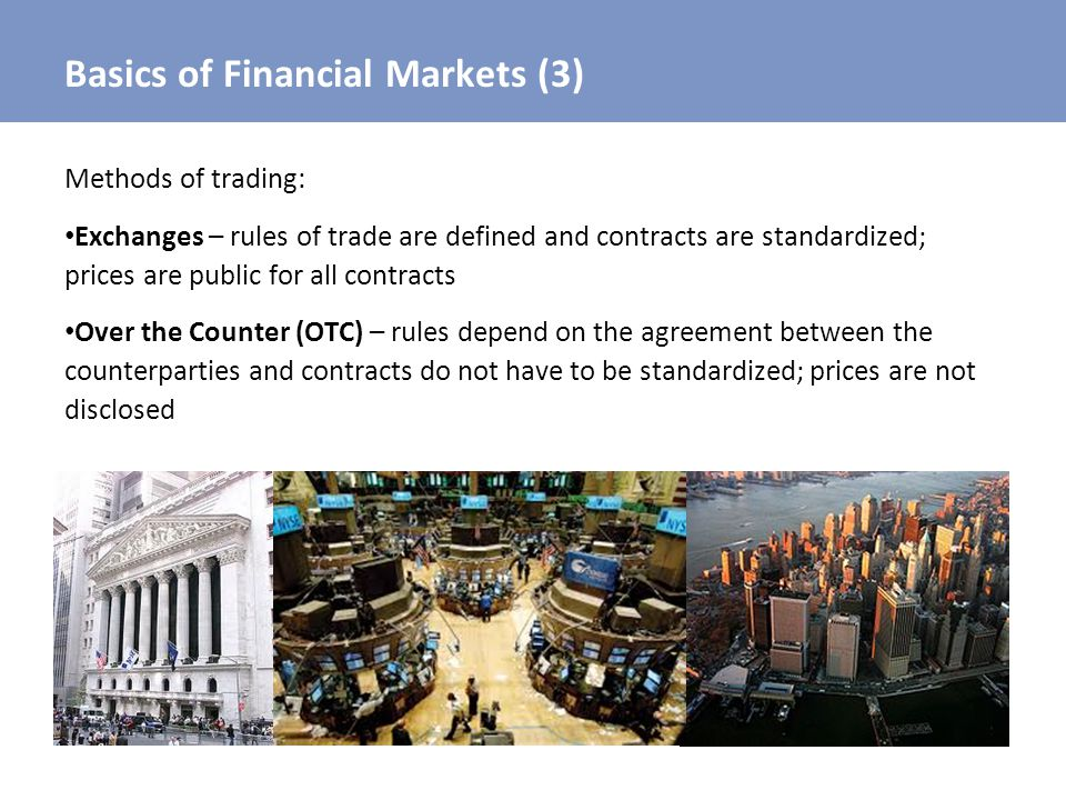 Basics of Financial Markets (3)