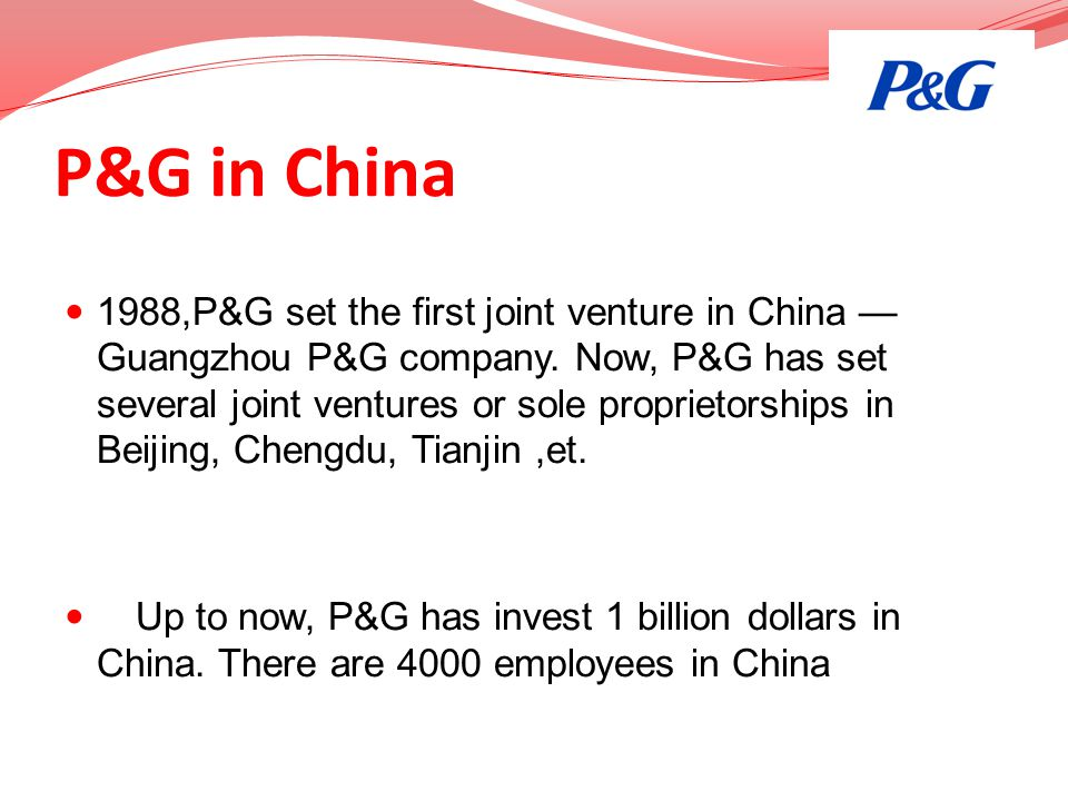 P&G in China