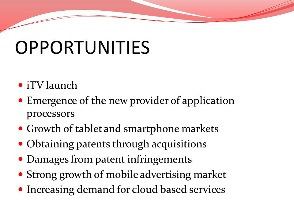 OPPORTUNITIES iTV launch