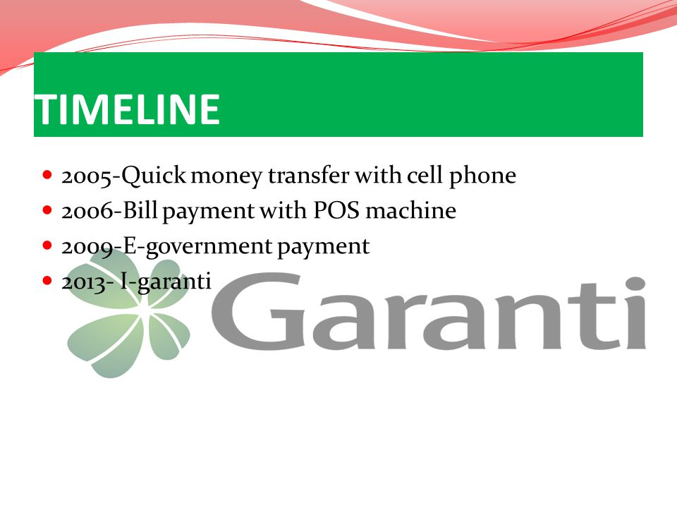 TIMELINE 2005-Quick money transfer with cell phone