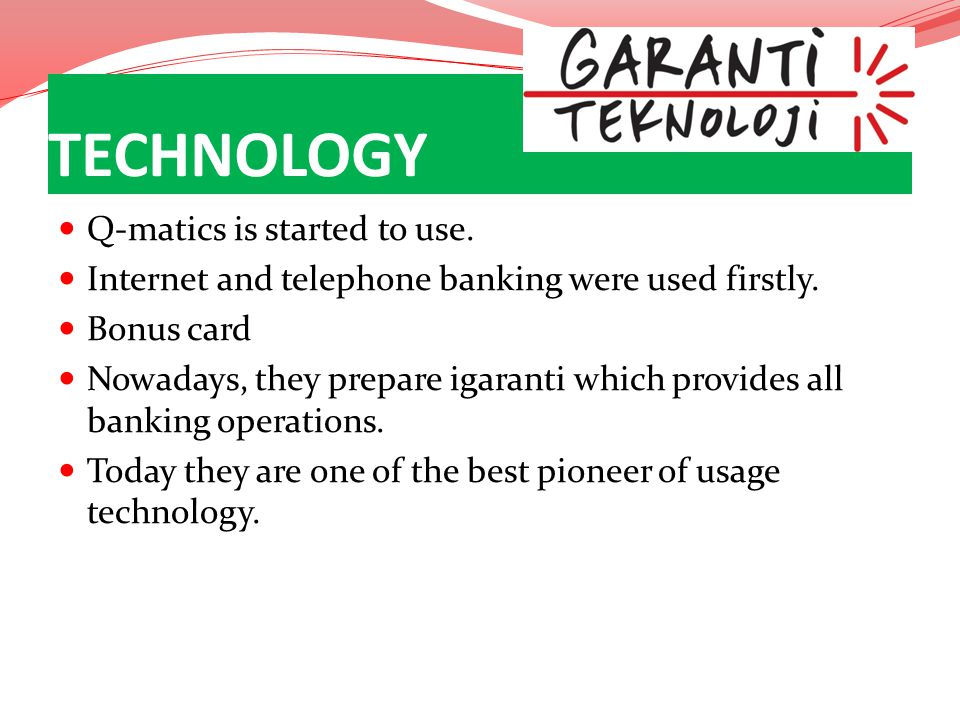 TECHNOLOGY Q-matics is started to use.