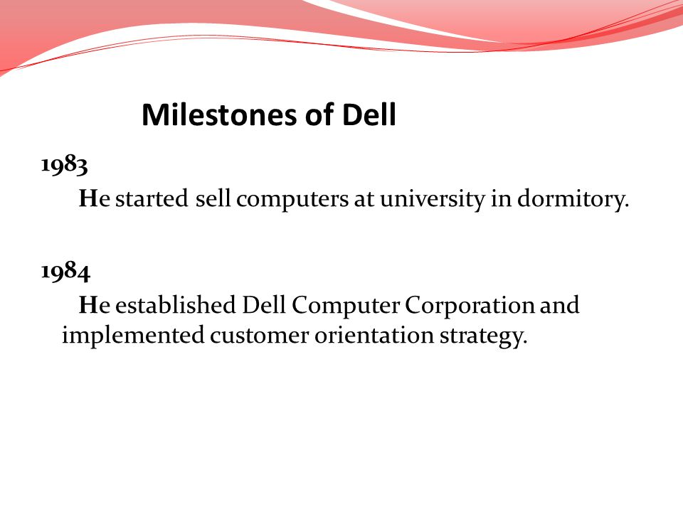 Milestones of Dell