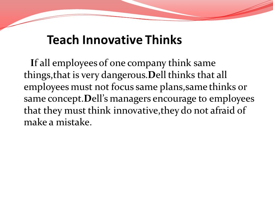 Teach Innovative Thinks