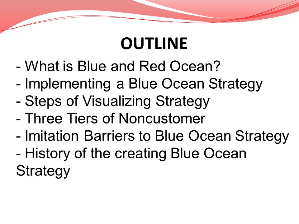 OUTLINE - What is Blue and Red Ocean