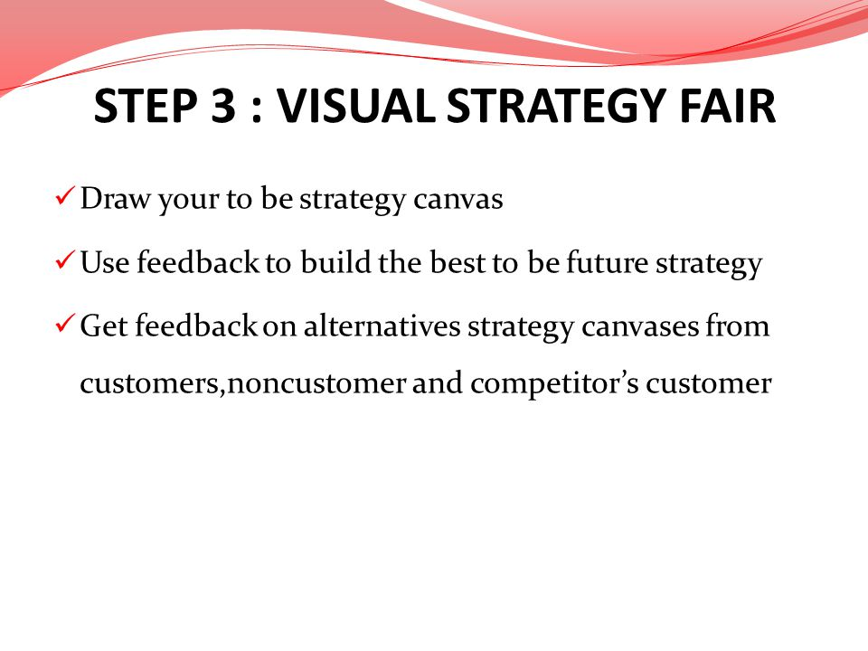 STEP 3 : VISUAL STRATEGY FAIR