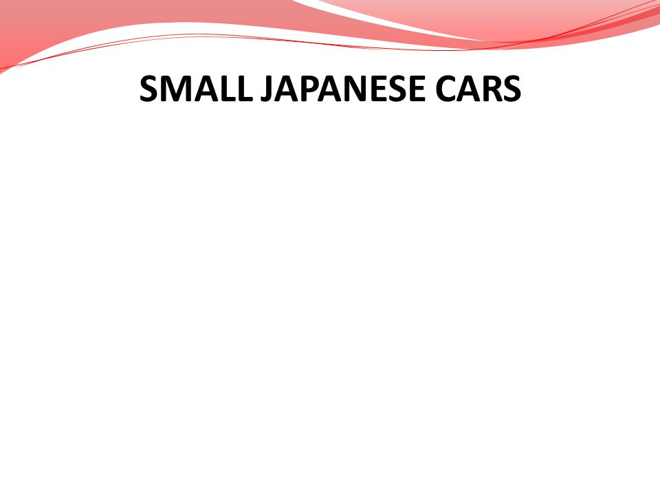 SMALL JAPANESE CARS