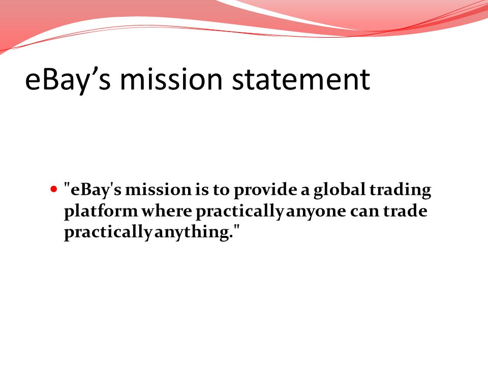 eBay's mission statement
