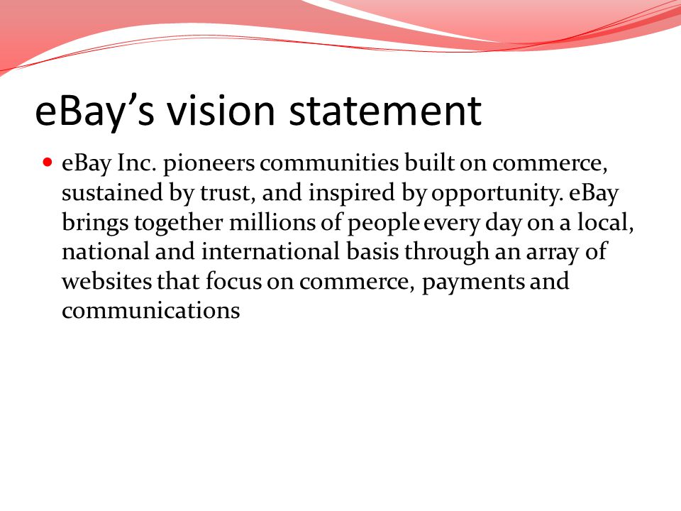eBay's vision statement