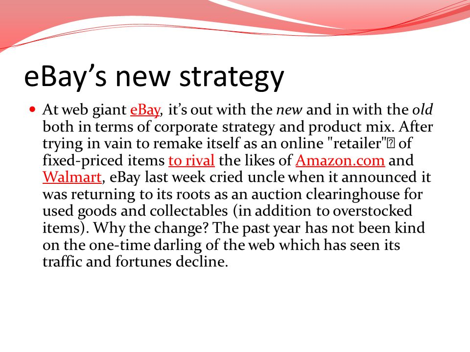 eBay's new strategy
