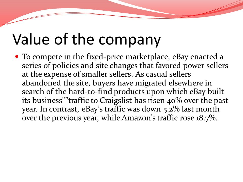 Value of the company