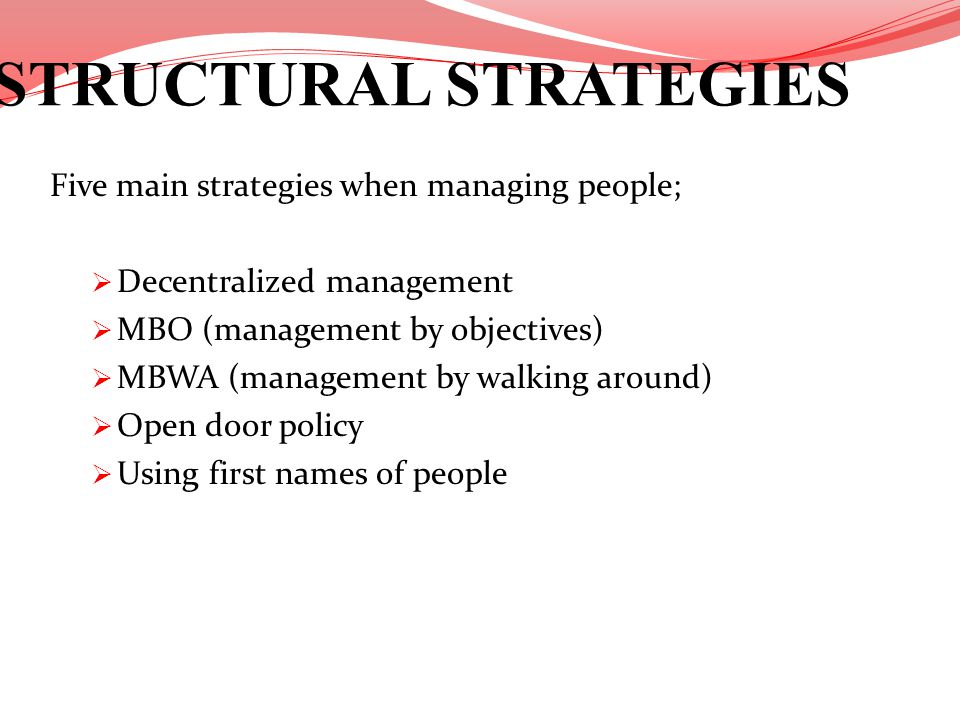 STRUCTURAL STRATEGIES