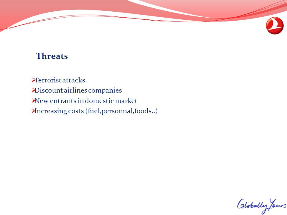 Threats Terrorist attacks. Discount airlines companies.
