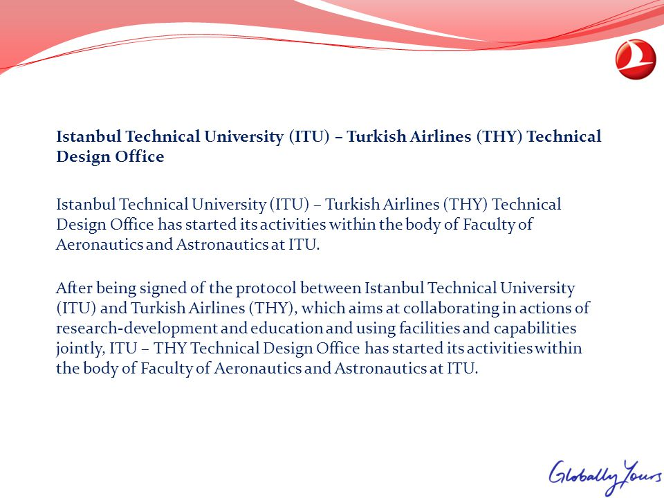 Istanbul Technical University (ITU) – Turkish Airlines (THY) Technical Design Office