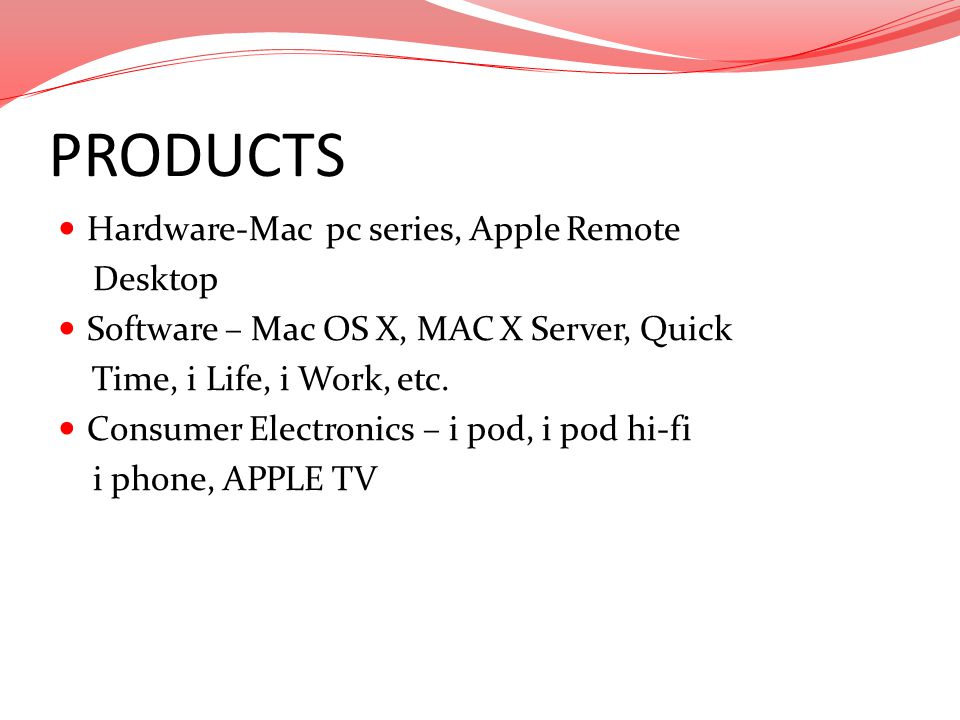 PRODUCTS Hardware-Mac pc series, Apple Remote Desktop