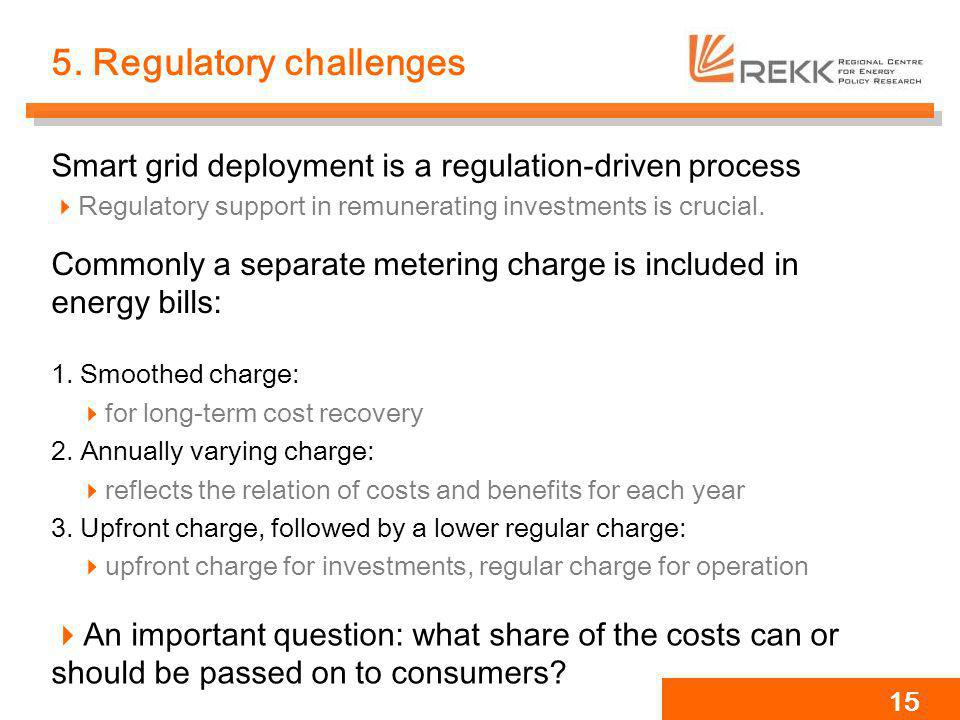 5. Regulatory challenges