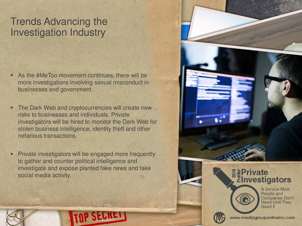 Overview of Private Investigation Industry - ppt download