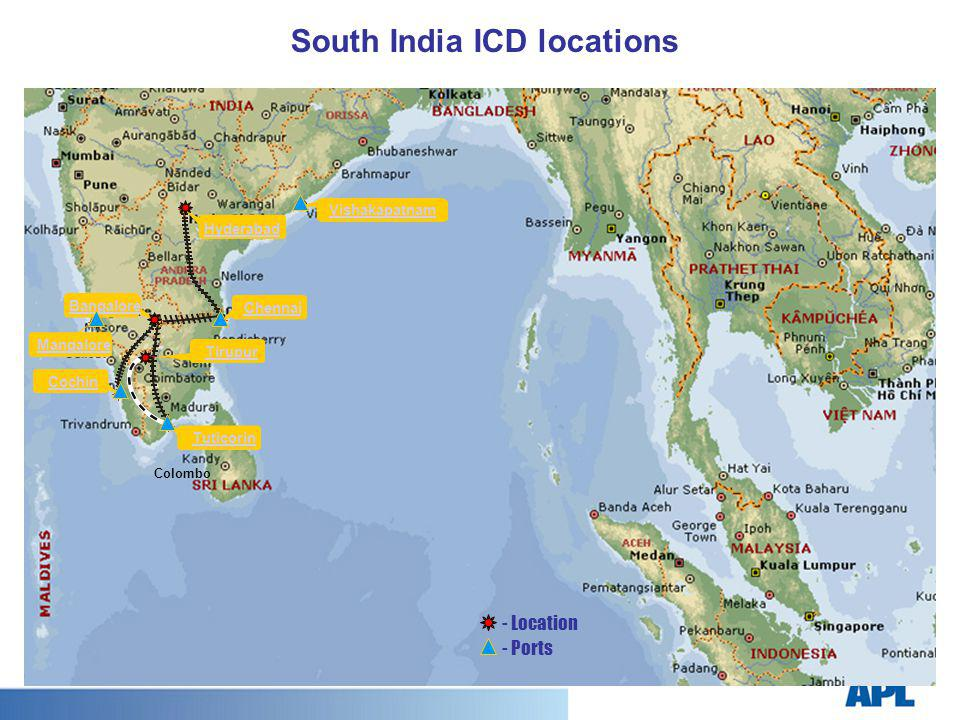South India ICD locations