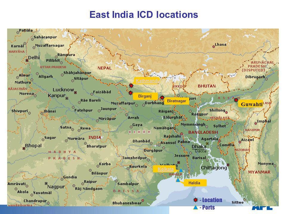 East India ICD locations
