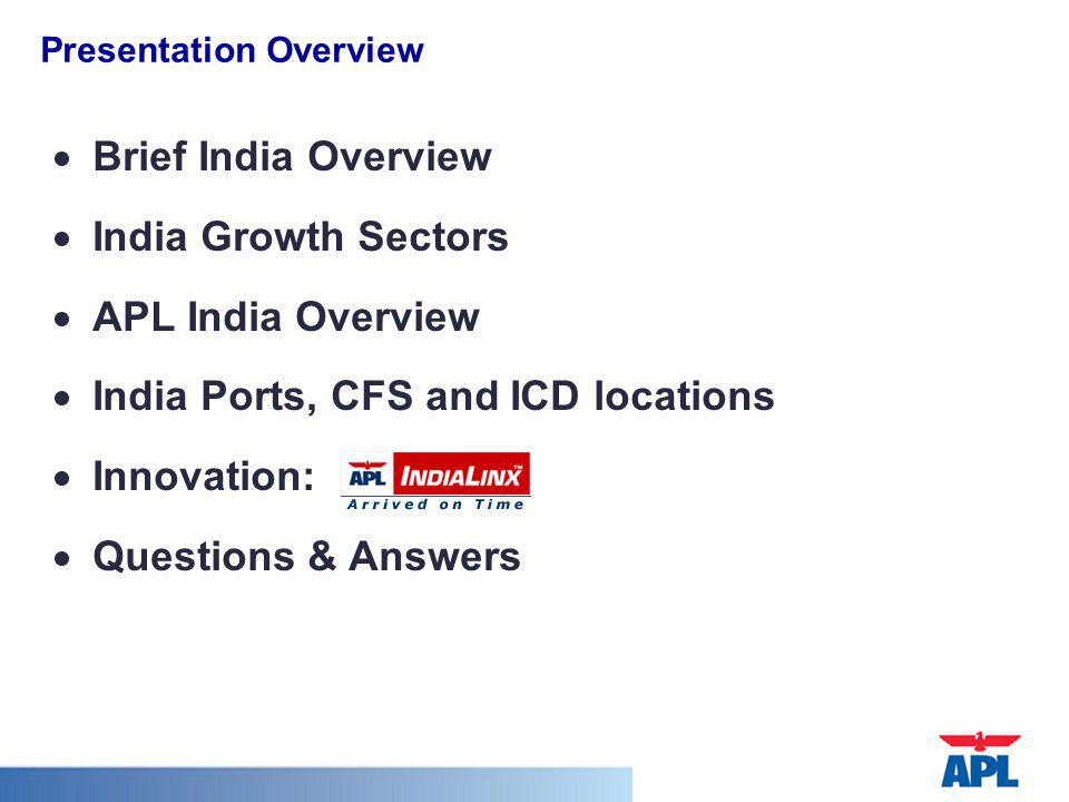 India Ports, CFS and ICD locations Innovation: Questions & Answers