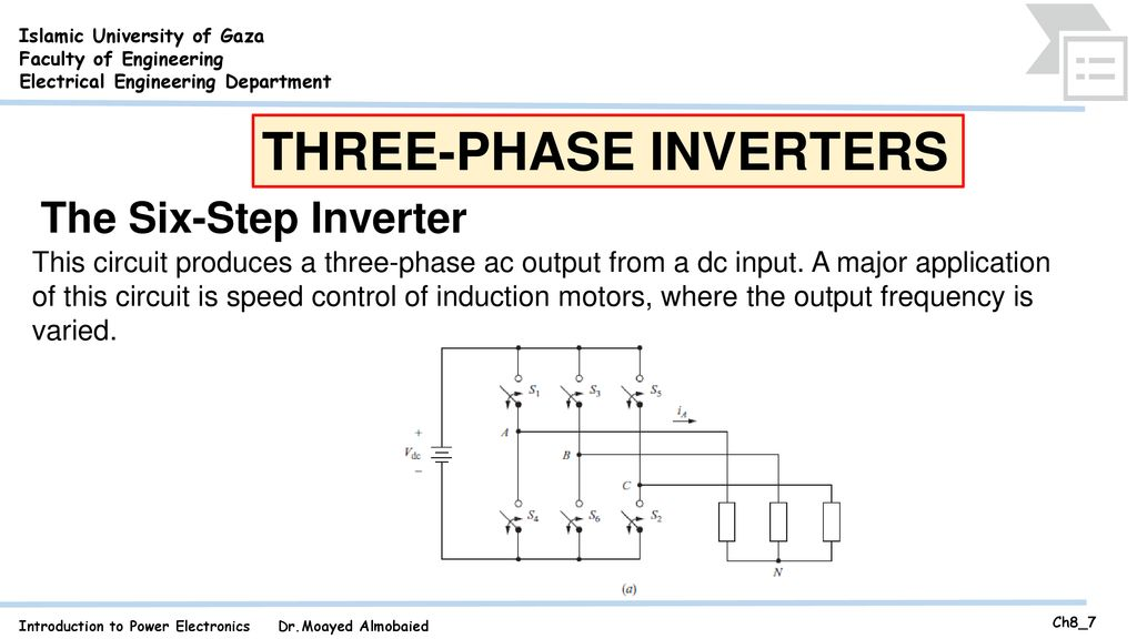 THREE-PHASE INVERTERS - ppt download