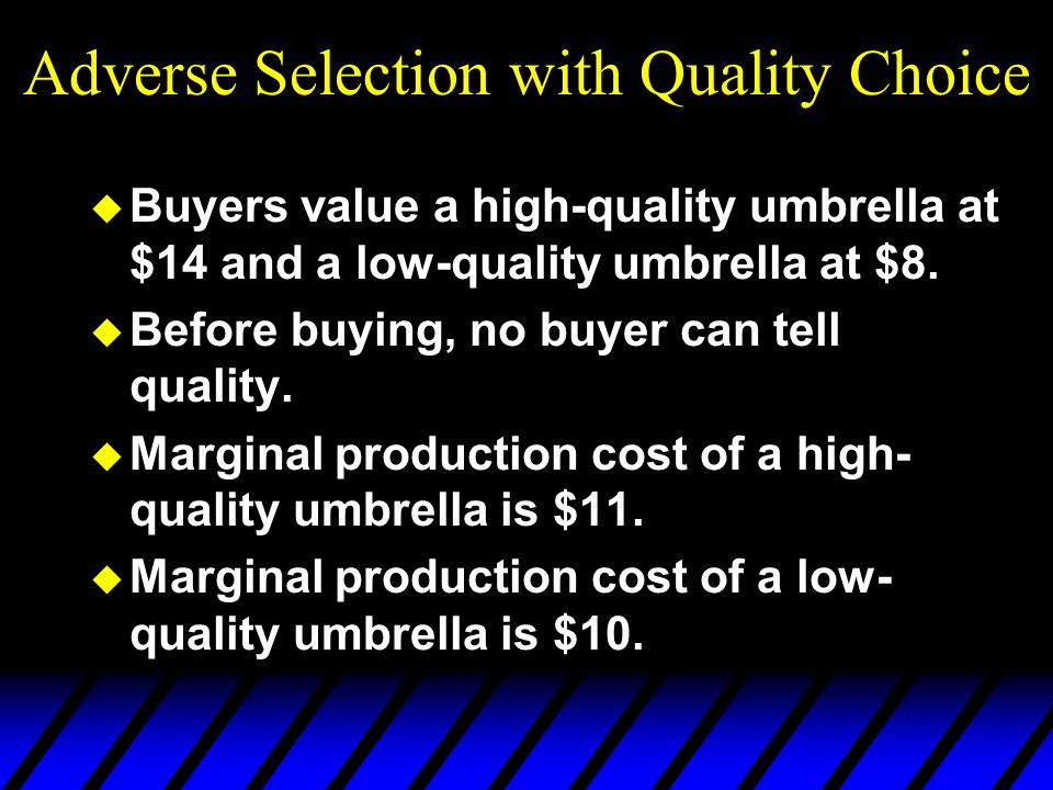 Adverse Selection with Quality Choice