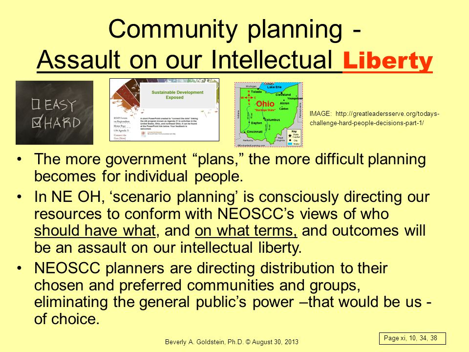 Community planning - Assault on our Intellectual Liberty