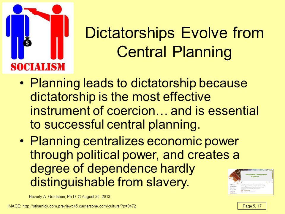 Dictatorships Evolve from Central Planning