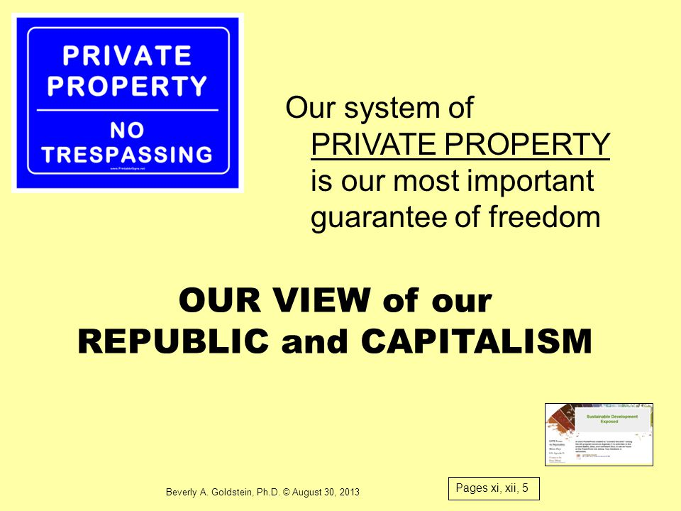 OUR VIEW of our REPUBLIC and CAPITALISM