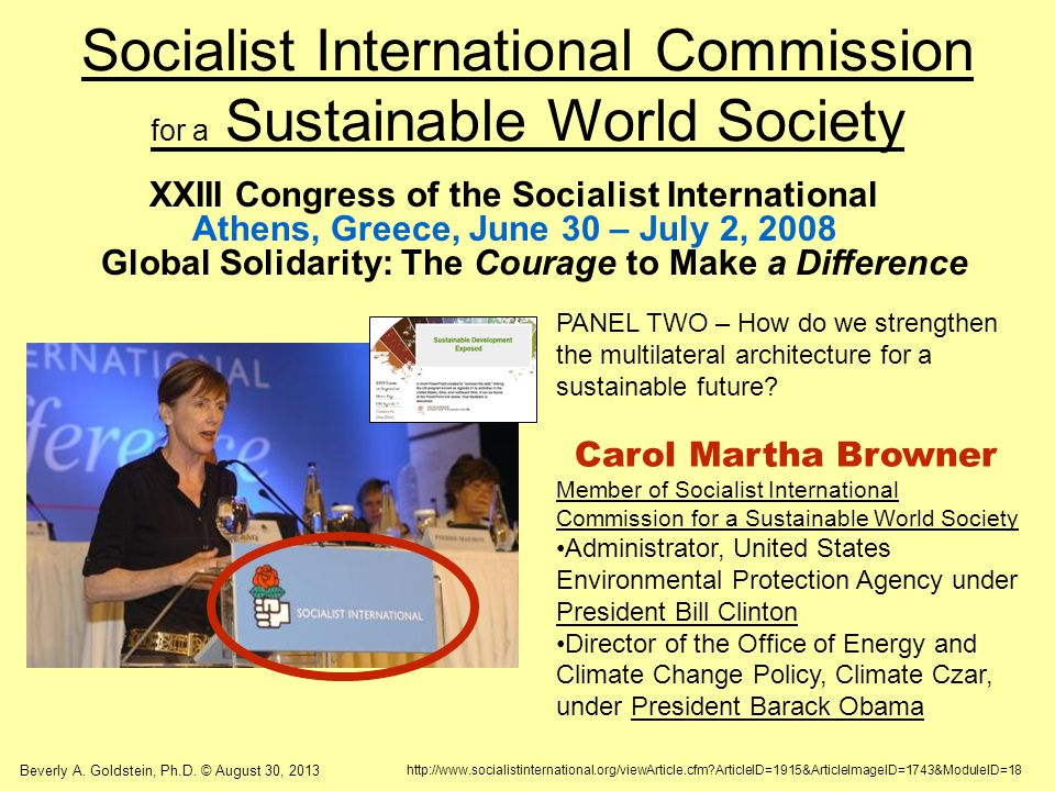 Socialist International Commission for a Sustainable World Society