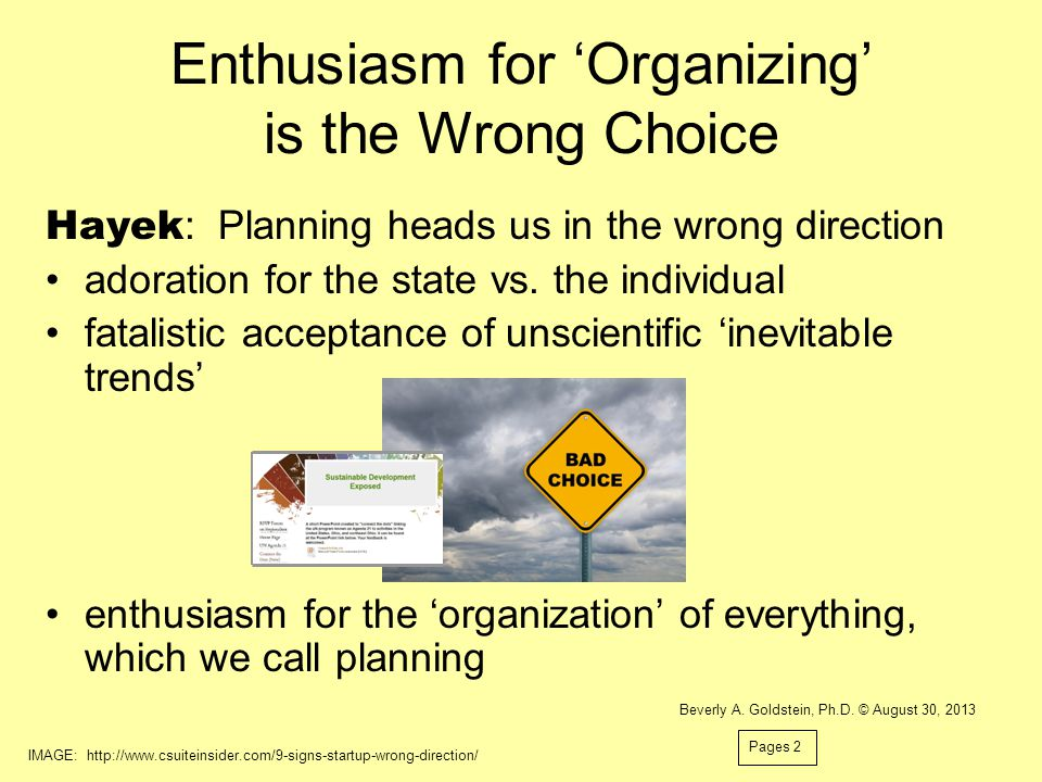 Enthusiasm for 'Organizing' is the Wrong Choice