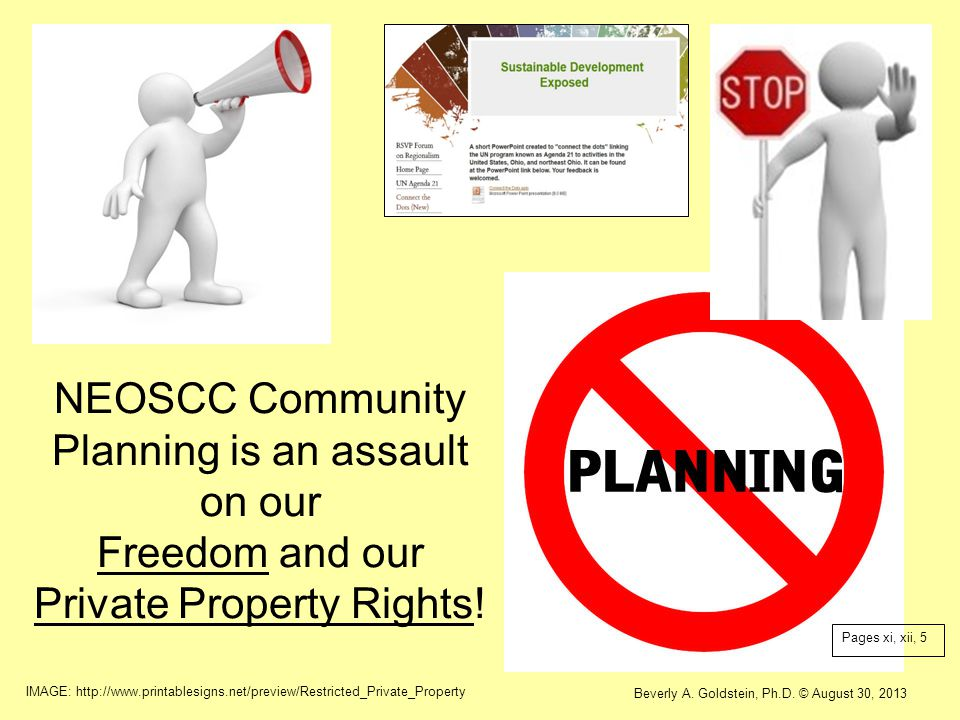 NEOSCC Community Planning is an assault on our Freedom and our Private Property Rights!
