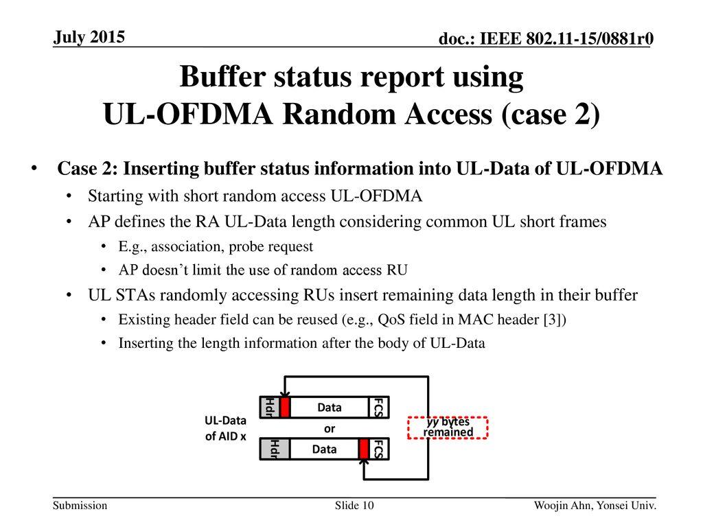 Regarding buffer status of UL-STAs in UL-OFDMA - ppt download