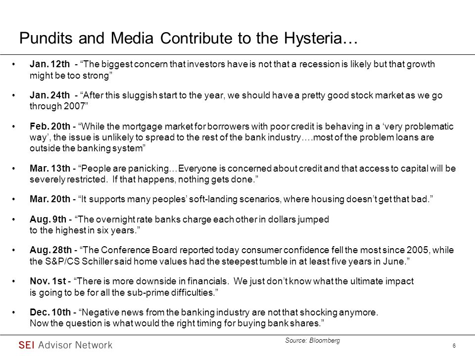 Pundits and Media Contribute to the Hysteria…
