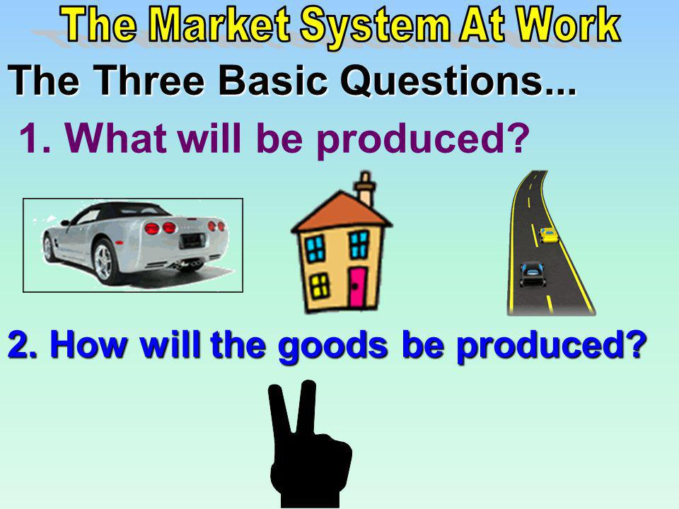 The Market System At Work
