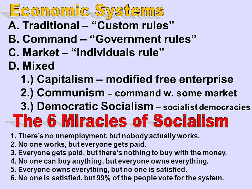 The 6 Miracles of Socialism