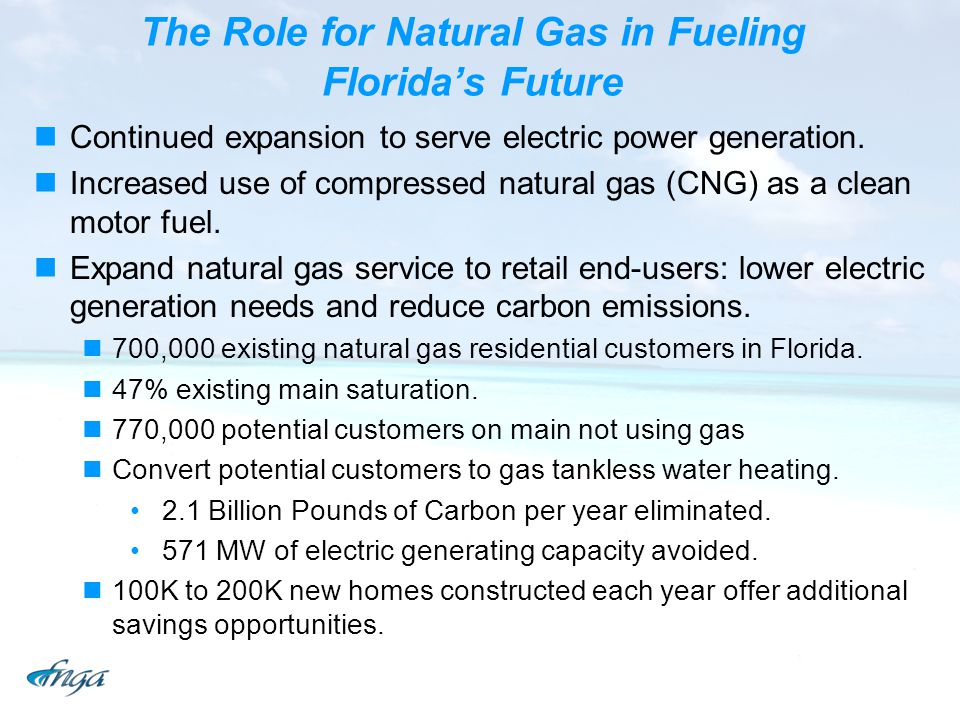 The Role for Natural Gas in Fueling Florida's Future