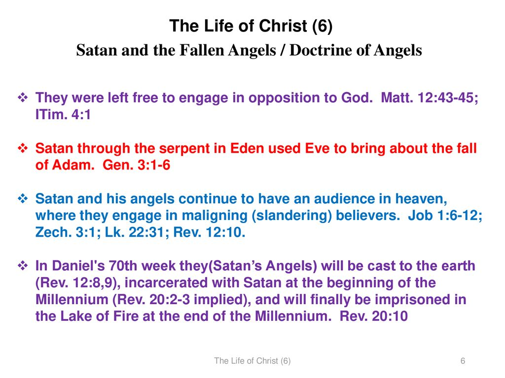 The Life of Christ (6) Vocabulary Term The Angelic Conflict