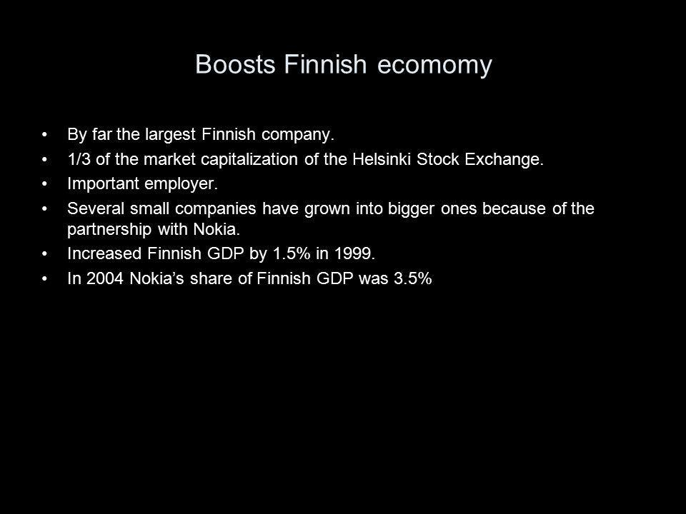 Boosts Finnish ecomomy