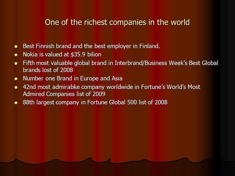 One of the richest companies in the world