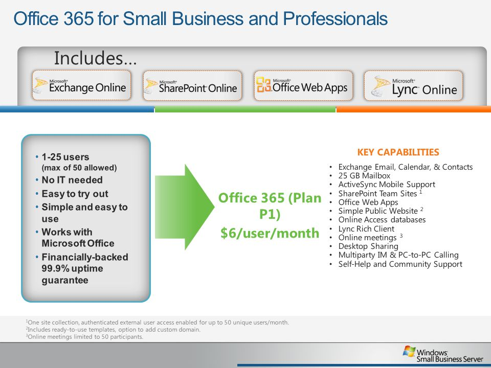 Office 365 for Small Business and Professionals
