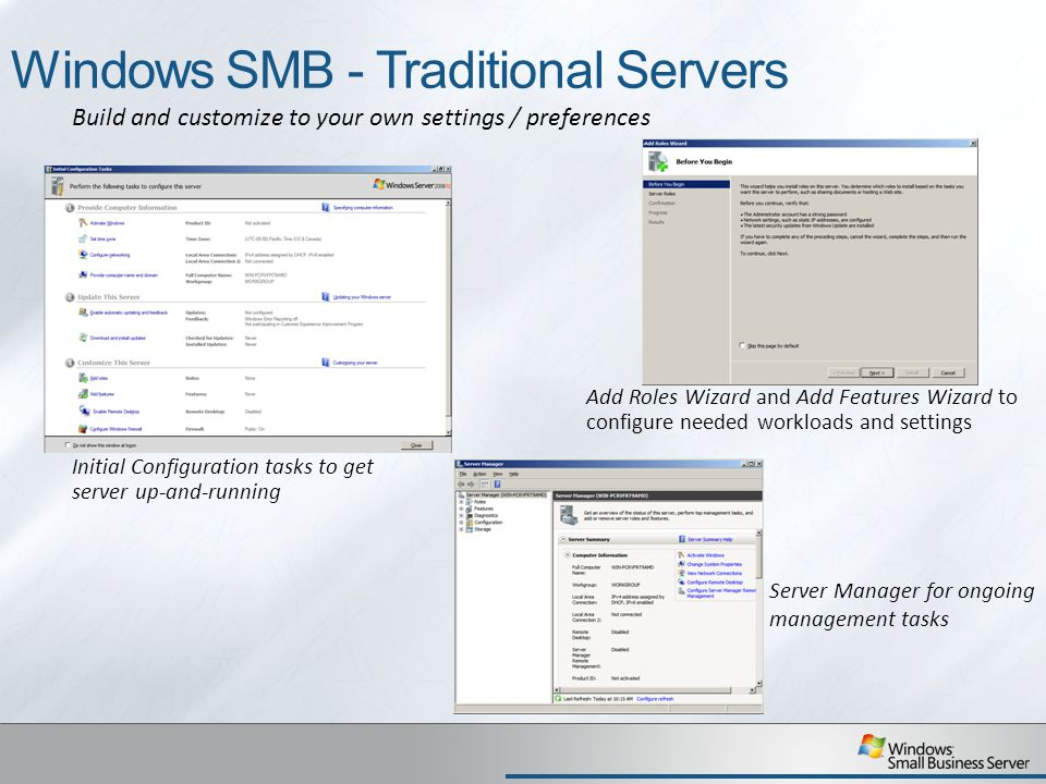 Windows SMB - Traditional Servers