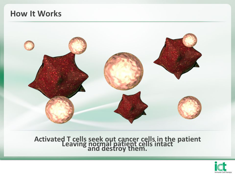 Leaving normal patient cells intact