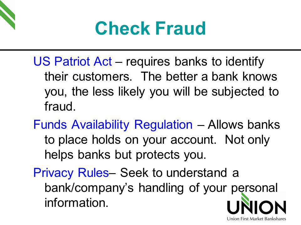 Check Fraud