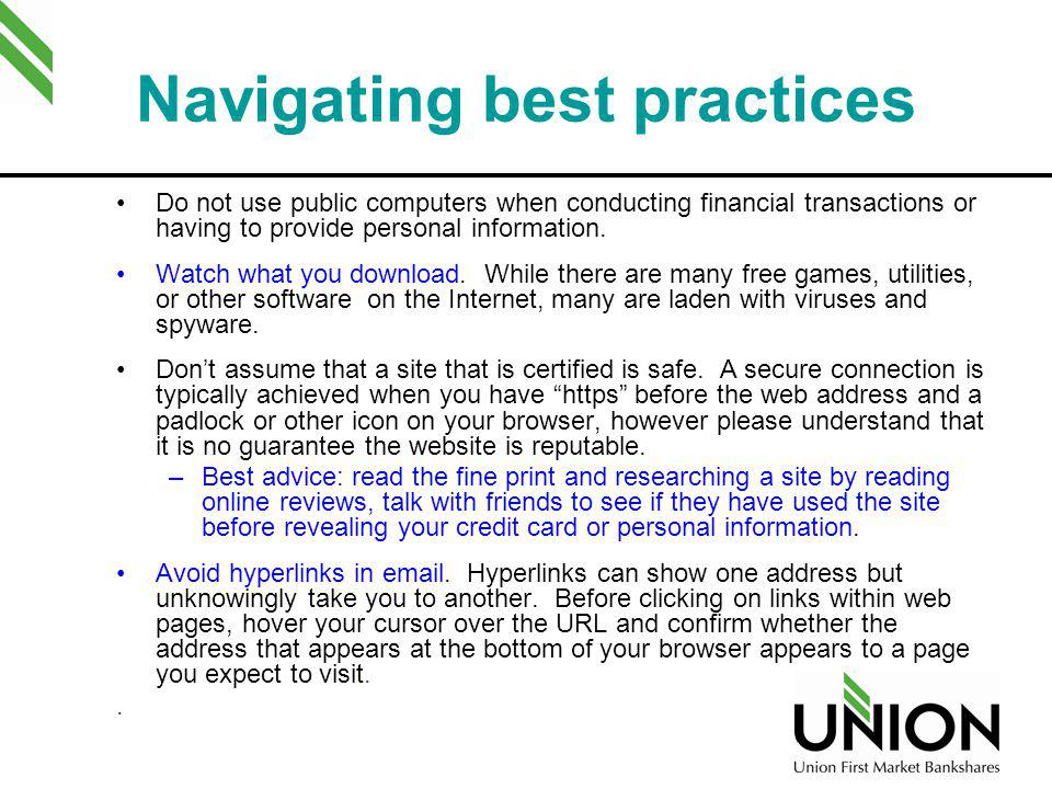 Navigating best practices