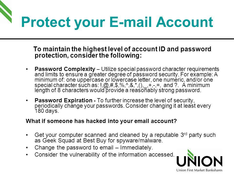 Protect your  Account