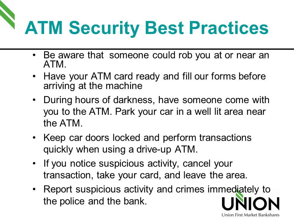 ATM Security Best Practices