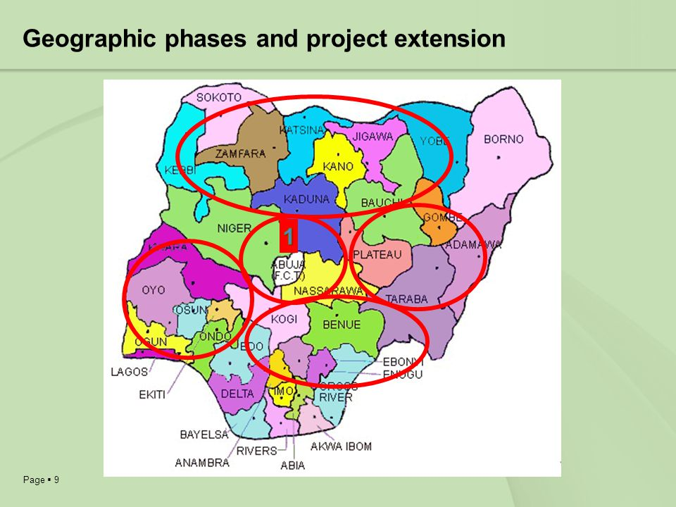 Geographic phases and project extension