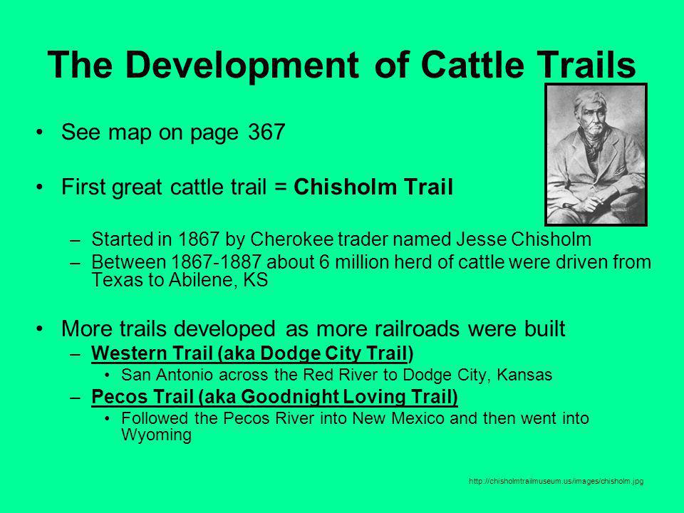 The Development of Cattle Trails